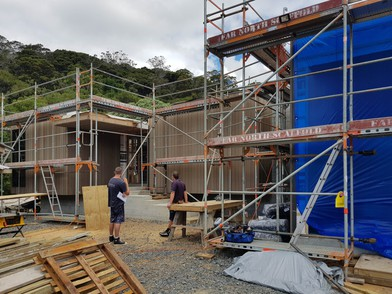 Bay of Islands house under construction.